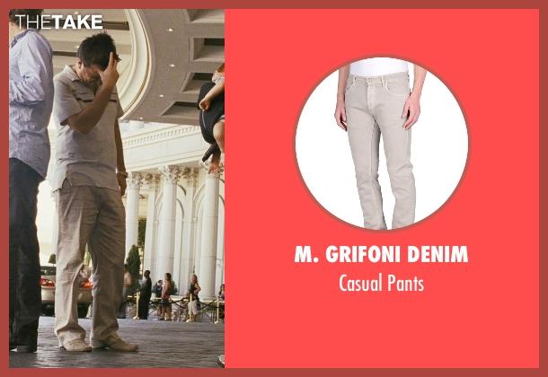 M. Grifoni Denim gray pants from The Hangover seen with Ed Helms (Stu)