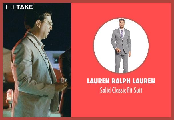 Lauren Ralph Lauren gray suit from The Hangover seen with Ed Helms (Stu)