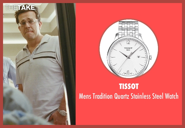 Tissot silver watch from The Hangover seen with Ed Helms (Stu)