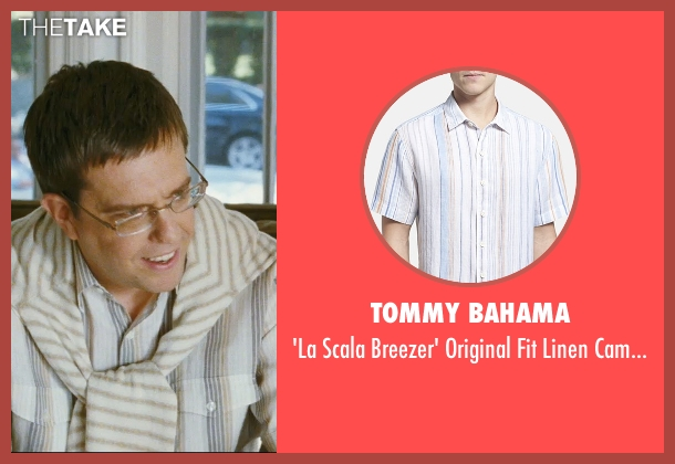 Tommy Bahama white campshirt from The Hangover seen with Ed Helms (Stu)
