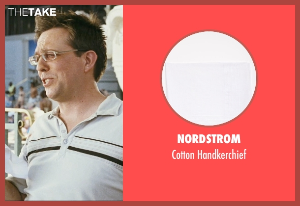 Nordstrom white handkerchief from The Hangover seen with Ed Helms (Stu)