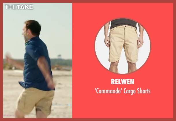 Relwen beige shorts from Vacation seen with Ed Helms (Rusty Griswold)