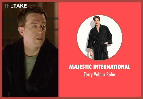 Majestic International black robe from Vacation seen with Ed Helms (Rusty Griswold)