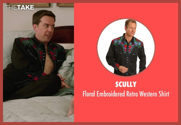 Scully black shirt from Vacation seen with Ed Helms (Rusty Griswold)