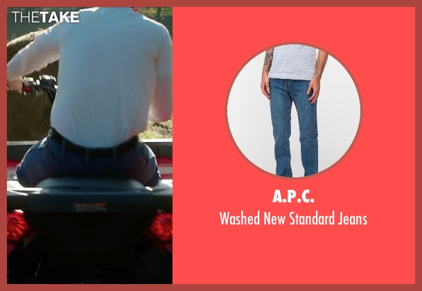 A.P.C. blue jeans from Vacation seen with Ed Helms (Rusty Griswold)