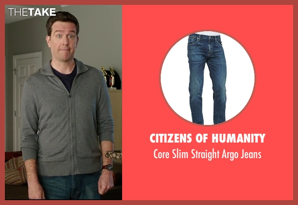 Citizens of Humanity blue jeans from Vacation seen with Ed Helms (Rusty Griswold)