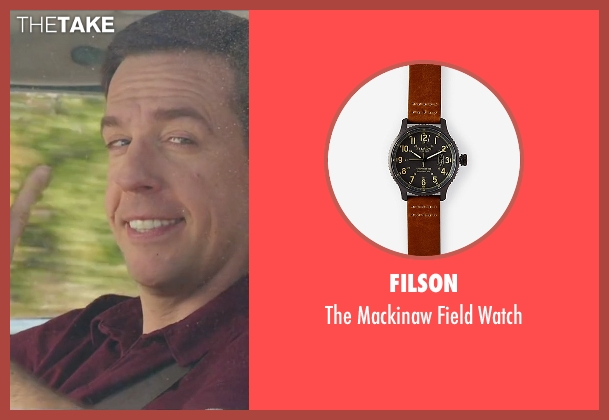 Filson brown watch from Vacation seen with Ed Helms (Rusty Griswold)