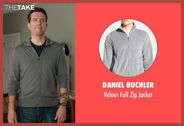 Daniel Buchler gray jacket from Vacation seen with Ed Helms (Rusty Griswold)