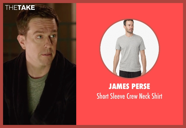 James Perse gray shirt from Vacation seen with Ed Helms (Rusty Griswold)