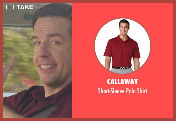 Callaway red shirt from Vacation seen with Ed Helms (Rusty Griswold)