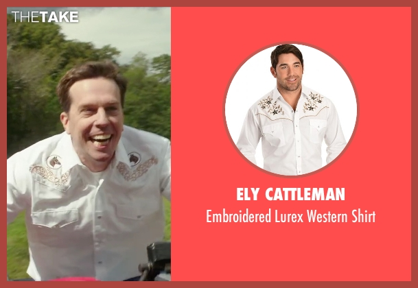 Ely Cattleman white shirt from Vacation seen with Ed Helms (Rusty Griswold)
