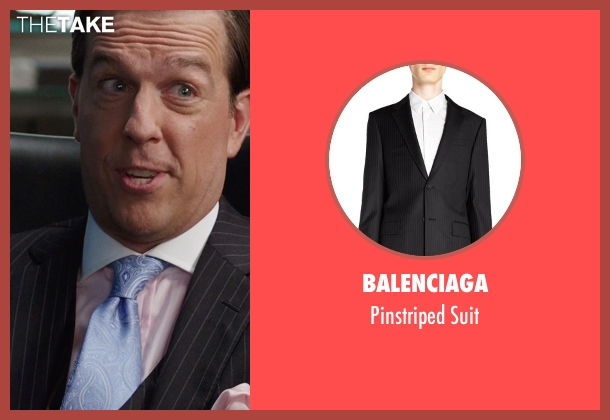 Balenciaga black suit from We're the Millers seen with Ed Helms (Brad Gurdlinger)