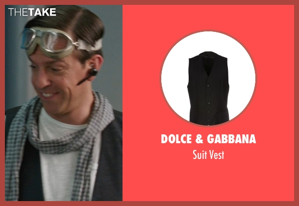 Dolce & Gabbana black vest from We're the Millers seen with Ed Helms (Brad Gurdlinger)