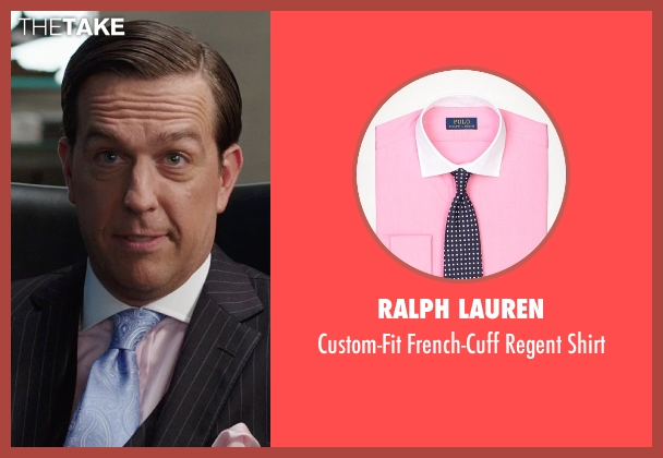 Ralph Lauren pink shirt from We're the Millers seen with Ed Helms (Brad Gurdlinger)
