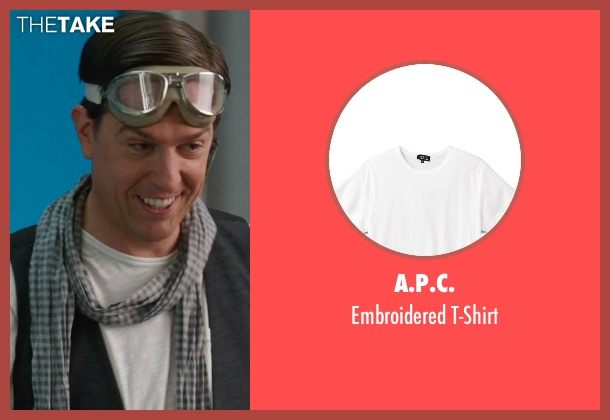 A.P.C. white t-shirt from We're the Millers seen with Ed Helms (Brad Gurdlinger)
