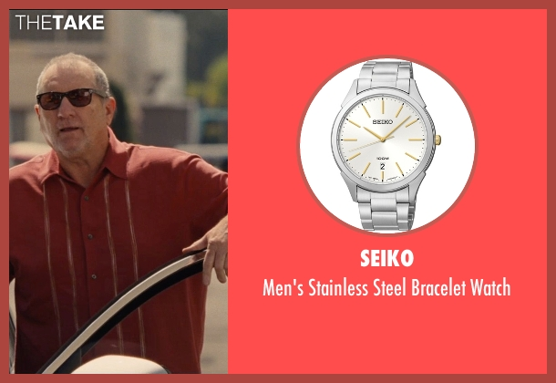 Seiko silver watch from Entourage seen with Ed O'Neill (Unknown Character)