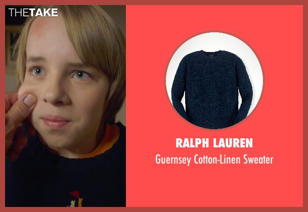 Ralph Lauren blue sweater from The Visit seen with Ed Oxenbould (Unknown Character)