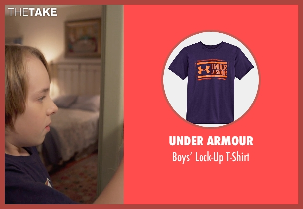 Under Armour purple t-shirt from The Visit seen with Ed Oxenbould (Unknown Character)
