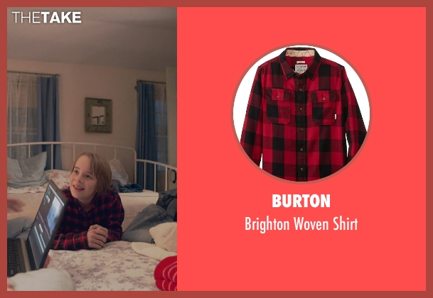 Burton red shirt from The Visit seen with Ed Oxenbould (Unknown Character)
