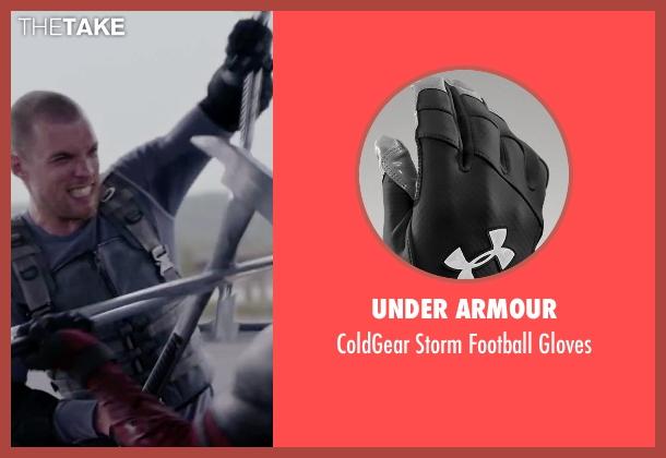 Under Armour black gloves from Deadpool seen with Ed Skrein (Ajax)