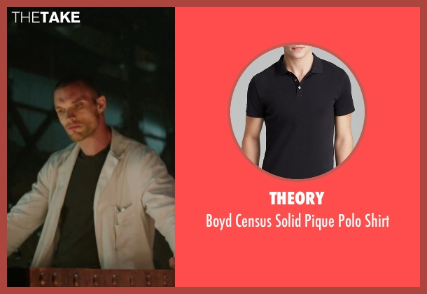 Theory black shirt from Deadpool seen with Ed Skrein (Ajax)