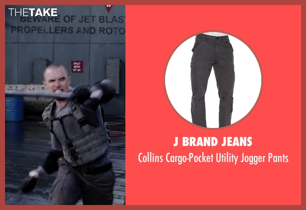J Brand Jeans gray pants from Deadpool seen with Ed Skrein (Ajax)