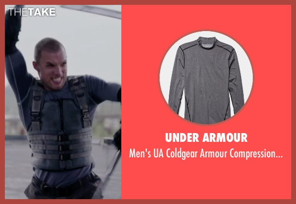 Under Armour gray shirt from Deadpool seen with Ed Skrein (Ajax)