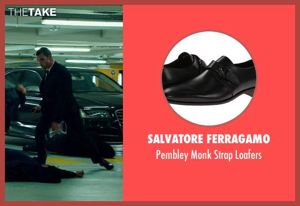 Salvatore Ferragamo black loafers from The Transporter: Refueled seen with Ed Skrein (Frank Martin)