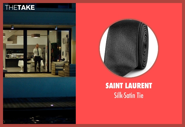 Saint Laurent black tie from The Transporter: Refueled seen with Ed Skrein (Frank Martin)