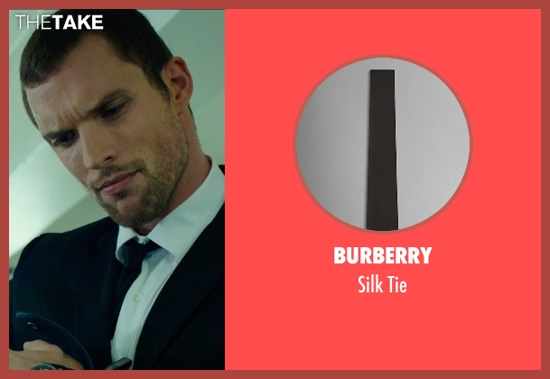 Burberry black tie from The Transporter: Refueled seen with Ed Skrein (Frank Martin)