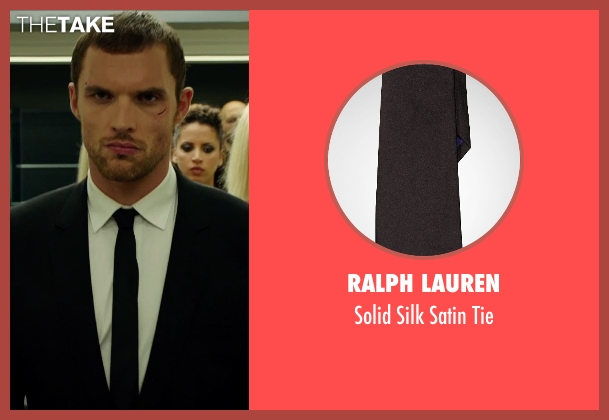 Ralph Lauren black tie from The Transporter: Refueled seen with Ed Skrein (Frank Martin)