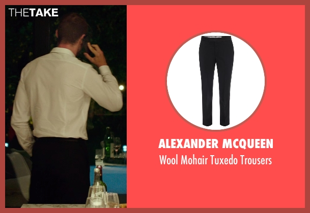 Alexander Mcqueen black trousers from The Transporter: Refueled seen with Ed Skrein (Frank Martin)