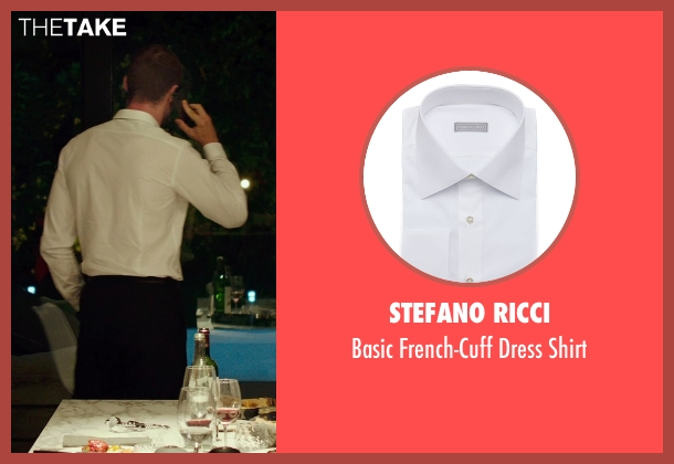 Stefano Ricci white shirt from The Transporter: Refueled seen with Ed Skrein (Frank Martin)