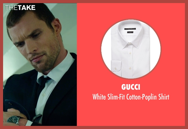 Gucci white shirt from The Transporter: Refueled seen with Ed Skrein (Frank Martin)