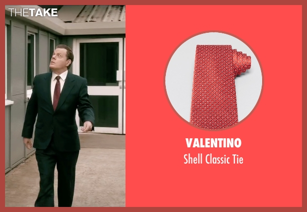 Valentino red tie from Absolutely Anything seen with Eddie Izzard (Headmaster)