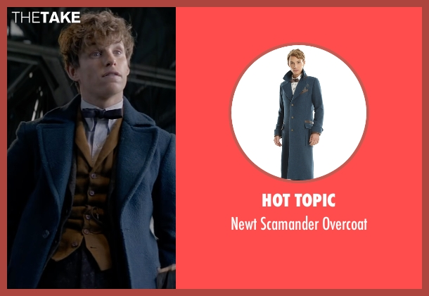 Hot Topic blue overcoat from Fantastic Beasts and Where to Find Them seen with Eddie Redmayne (Newt Scamander)