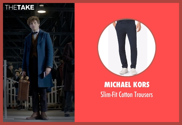 Zanella blue trousers from Fantastic Beasts and Where to Find Them seen with Eddie Redmayne (Newt Scamander)