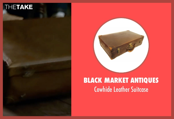 Black Market Antiques brown suitcase from Fantastic Beasts and Where to Find Them seen with Eddie Redmayne (Newt Scamander)