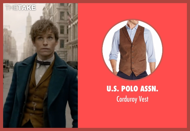 Orvis brown vest from Fantastic Beasts and Where to Find Them seen with Eddie Redmayne (Newt Scamander)