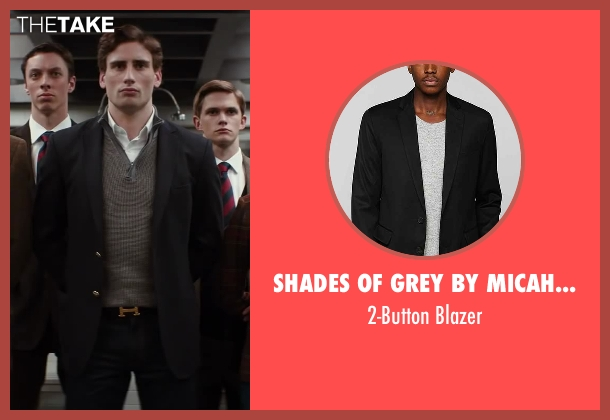 Shades Of Grey By Micah Cohen gray blazer from Kingsman: The Secret Service seen with Edward Holcroft (Charlie)