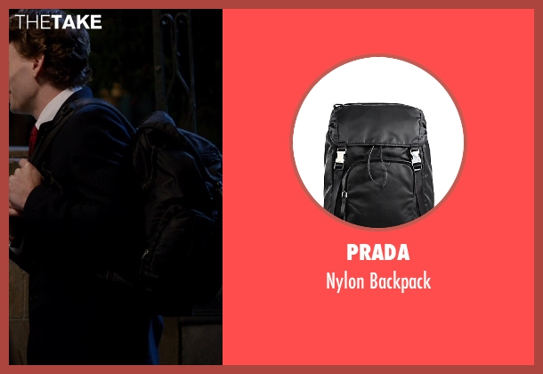 Prada black backpack from Vampire Academy seen with Edward Holcroft (Aaron)