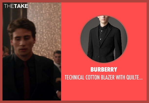 Burberry black warmer from Vampire Academy seen with Edward Holcroft (Aaron)