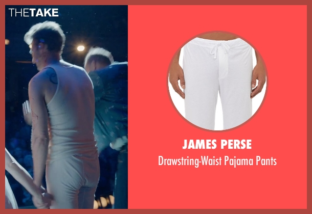 James Perse white pants from Birdman seen with Edward Norton (Mike)