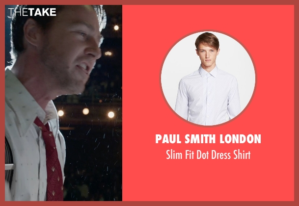 Paul Smith London white shirt from Birdman seen with Edward Norton (Mike)
