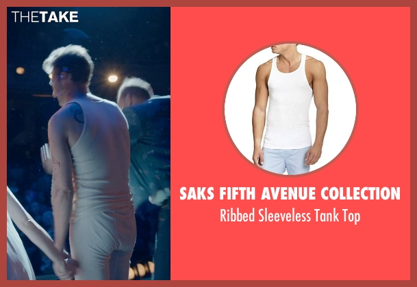 Saks Fifth Avenue Collection white top from Birdman seen with Edward Norton (Mike)