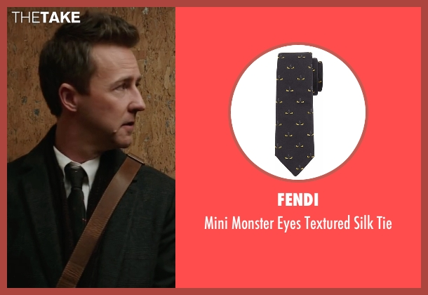 Fendi black tie from Collateral Beauty seen with Edward Norton (Whit Yardsham)