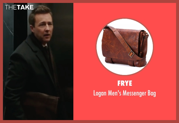 Frye brown bag from Collateral Beauty seen with Edward Norton (Whit Yardsham)