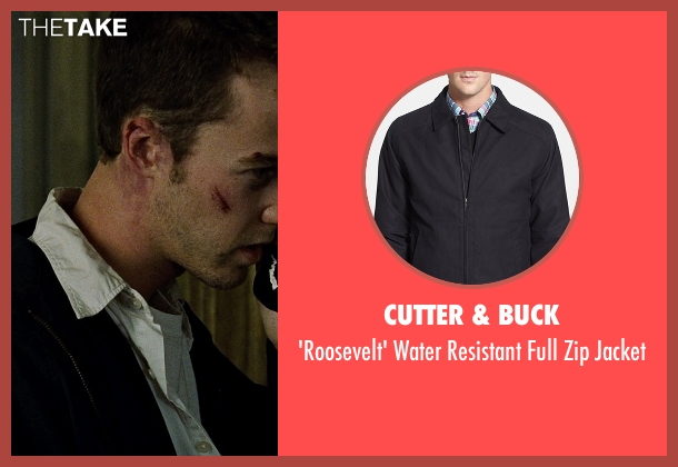 Cutter & Buck black jacket from Fight Club seen with Edward Norton (The Narrator)