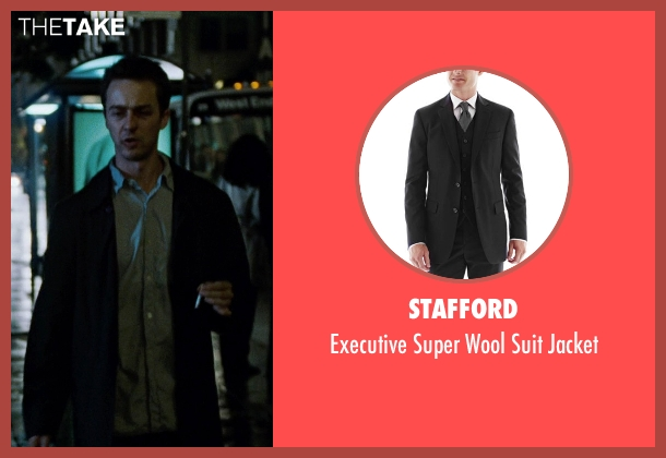 Stafford black jacket from Fight Club seen with Edward Norton (The Narrator)