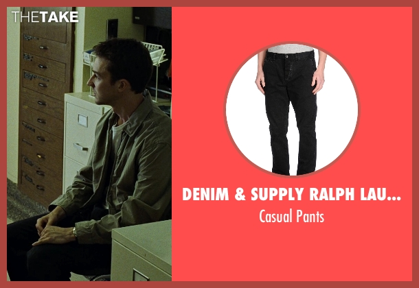 Denim & Supply Ralph Lauren black pants from Fight Club seen with Edward Norton (The Narrator)